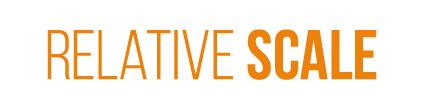 Relative Scale orange logo, Raleigh NC creative agency